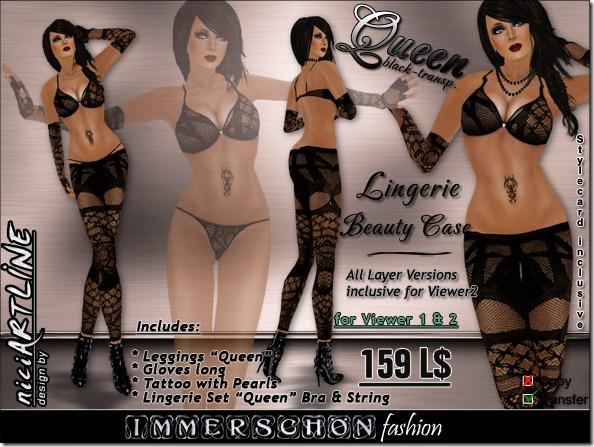 lingerie beauty case queen black transp